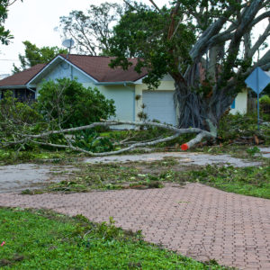 Image of property damage caused by a hurricane